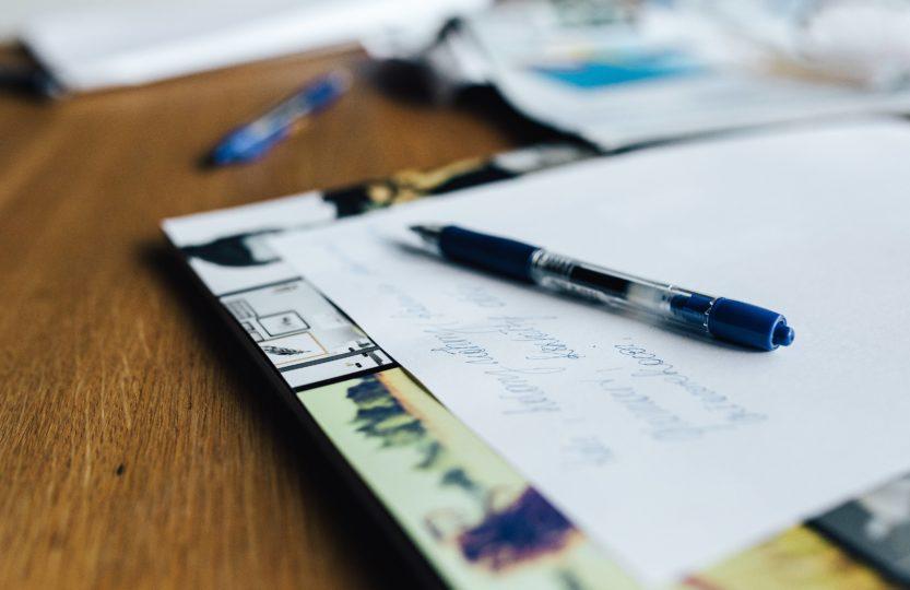 stylo papier