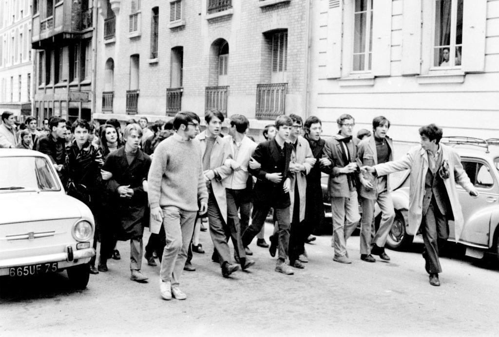 Manifestation rue Chanez en mai 68