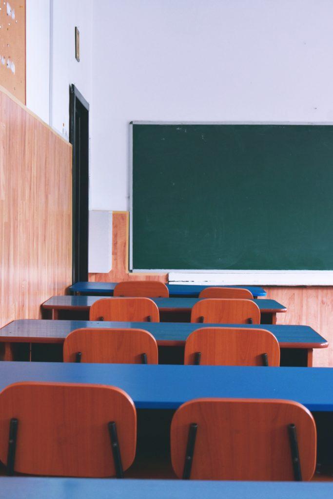 salle de classe peur d'enfant